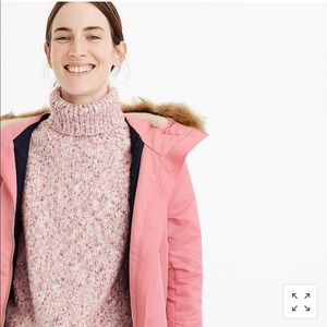 60d4820fccaf J. Crew Jackets   Coats - J. Crew Pink parka with quilted lining